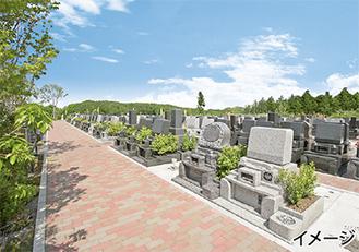横浜の街並みが一望できるロケーションが特長の「横浜あさひ霊園」