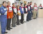 畑澤都筑区長(前列右)や北部病院の世良田院長(左から2人目)も参加