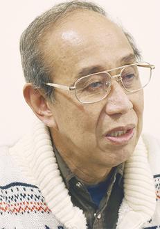 本紙の取材に応じる横山 徳三郎さん(67)