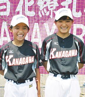 笑顔を見せる今井さん(右)と高井さん