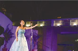 「美女と野獣」をはじめ、ミュージカルの名曲なども歌い上げた川原さん