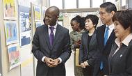 ボツワナ大使が区長訪問