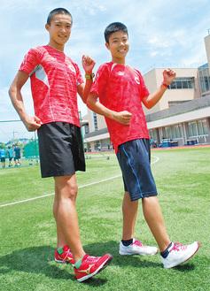 インターハイに初出場する平岡さん(左)と吉川さん
