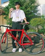 自転車競技20Kmで全国制覇