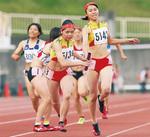 4×400mで5位になった荏田高女子部員