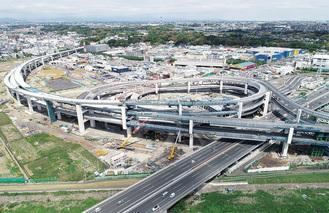 港北JCT付近の状況(5月7日撮影)=首都高(株)神奈川建設局提供