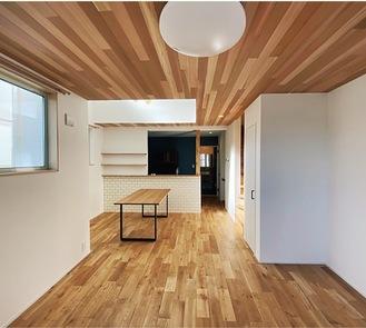 天然無垢材をふんだんに使った戸建て住宅のリフォーム