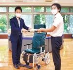 橋本営業部長(左)と片岡施設長