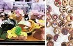 桃の節句の雛飾り(左)とバレンタインのクッキー作り