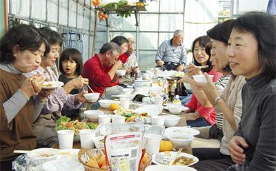収穫に感謝の宴