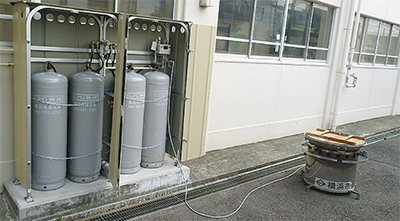 防災拠点にLPガス