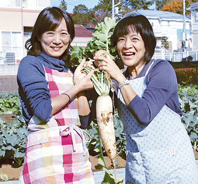 冬野菜の実りに感謝