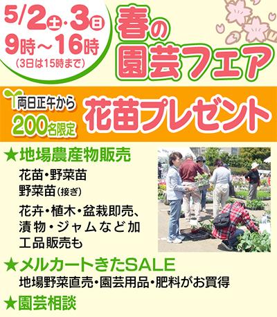 年に一度の春の園芸フェア