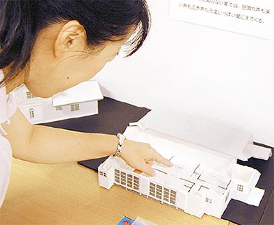アニメの家を模型で再現