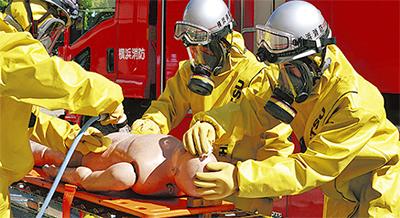 サミット前に災害訓練