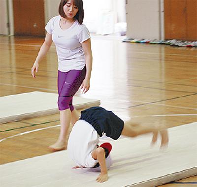 元五輪選手が体操指導