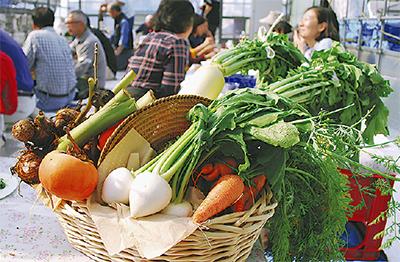 秋の実りで収穫祭