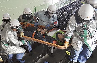 東京五輪見据え救急訓練