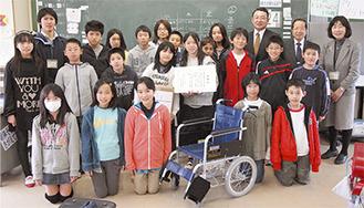 地球ボランティア委員会のメンバーと教諭、同組合メンバー