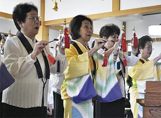 和讃の会が唄を奉納
