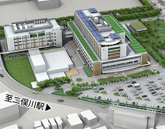 新病院の完成予想図