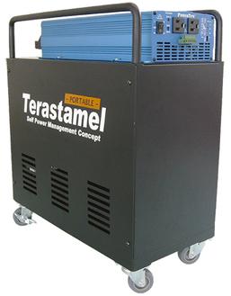 リチウムイオン蓄電池システム「テラスタメル」希望小売価格:298,000〜538,000円(税別)※完全受注生産のため、納期には1ヵ月〜1ヵ月半必要