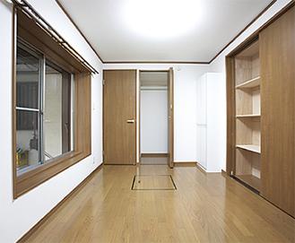 壁の中に安全ボックスを施工している。和室へのリフォームも可能