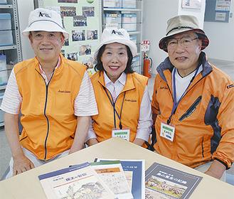 左から斎藤会長、広報部の木原さん、牧田顧問