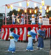 笹野台で納涼盆踊り