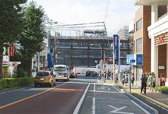 再開発工事が進む二俣川駅南口