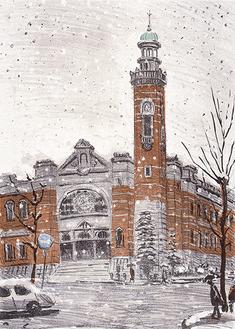 馬場檮男《冬の開港記念館》1979年