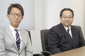 ブランド戦略担当の長島氏(右)と山城氏
