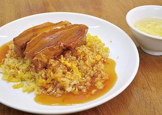 中華食堂志藤「角煮のせチャーハン」