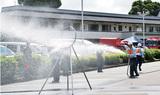 消火活動の技術競う