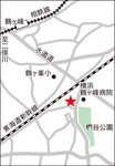 川島町の馬頭観音(右)、位置は上記地図を参照