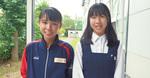 二俣川看護高・渋谷さん(左)と勝田さん