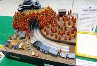 鉄道ジオラマ 学生手作り