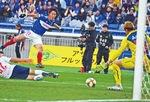 2試合連続ゴールを決めた遠藤選手