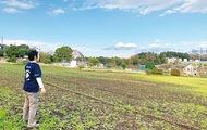 休耕地にワイン「ブドウ園」