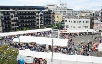 昨年の区民まつりには約5万5000人が訪れた