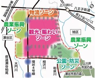 公園計画を含む、旧上瀬谷通信施設の跡地計画の全体像