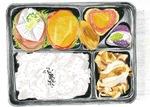 児童が描いた弁当のイラスト(同校提供)