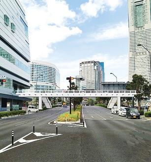 デッキの整備イメージ図=横浜市提供