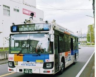 4月の試験走行で左近山周辺を走行した自動運転バス