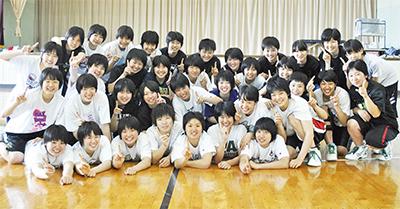 旭高女子バスケ 県連覇