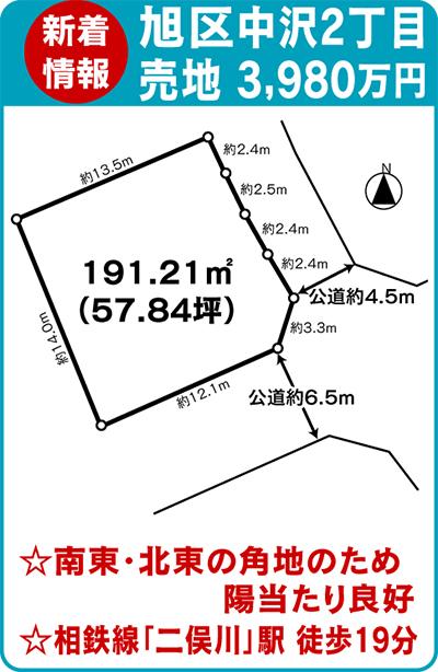 二俣川駅から徒歩圏内角地の土地を紹介