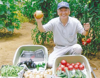 旬の手作り野菜を食す