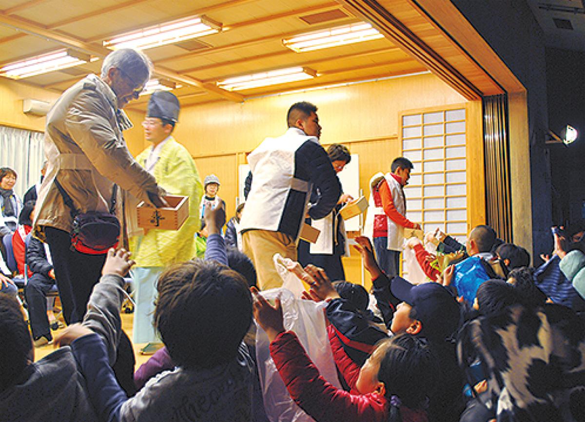 本村神明社で「節分祭」