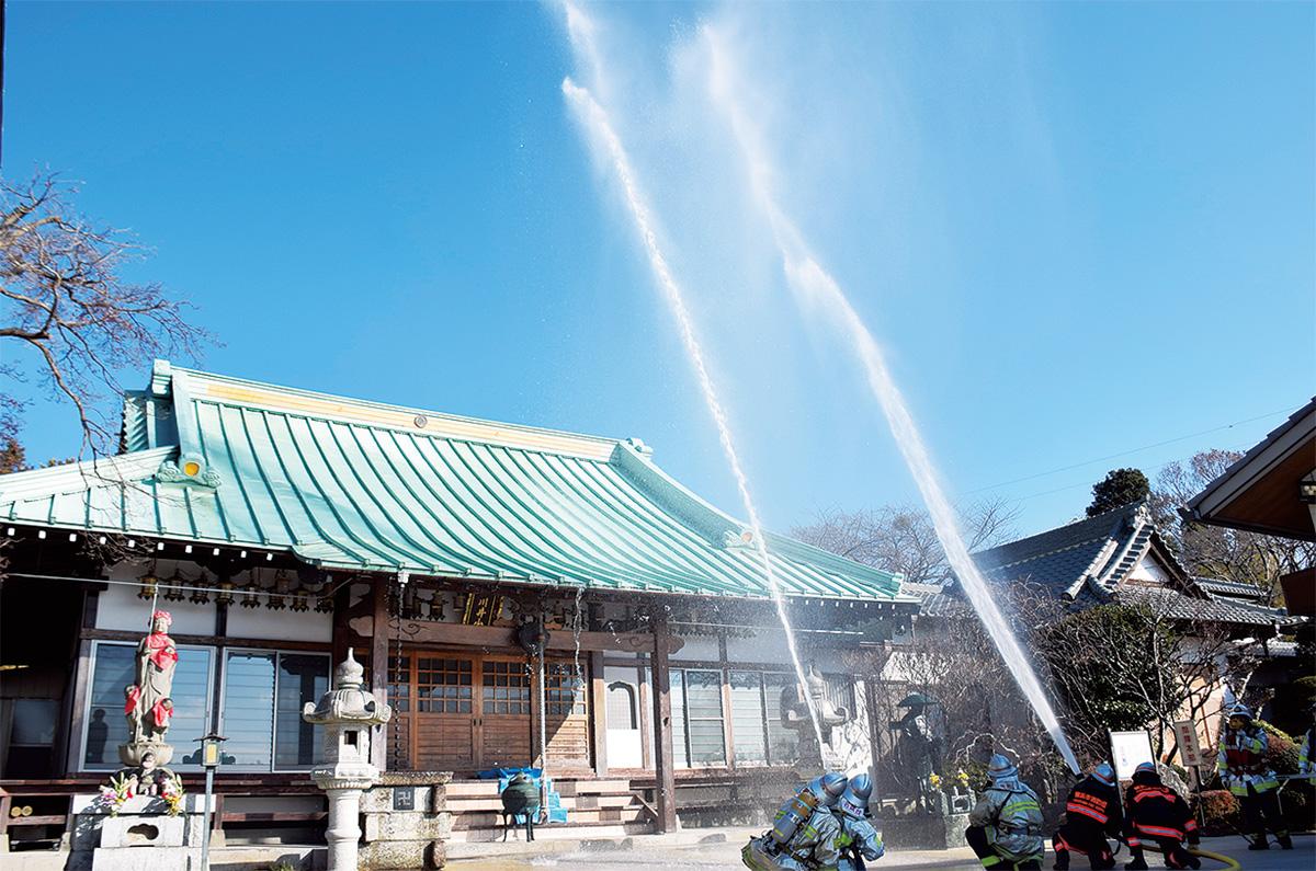 区内の文化財 火災から守る