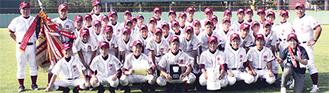 過去最高の成績を収めた瀬谷中野球部のメンバー
